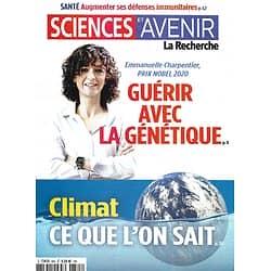 SCIENCES ET AVENIR n°885 novembre 2020  Guérir avec la génétique/ E.Charpentier/ Climat: il faut agir/ Défenses immunitaires/ Wounded Knee/ Stonehenge/ Morts subites