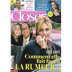 CLOSER n°806 20/11/2020  Julie Gayet/ Ingrid Chauvin/ Amel Bent/ Brad Pitt/ Joe Biden/ Sylvie Tellier/ Ben Affleck
