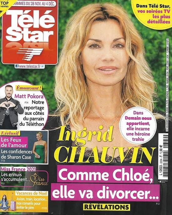 """TELE STAR n°2304 28/11/2020  Ingrid Chauvin """"Demain nous appartient""""/ Matt Pokora/ """"Les feux de l'Amour""""/ Mylène Farmer/ Gil Alma"""