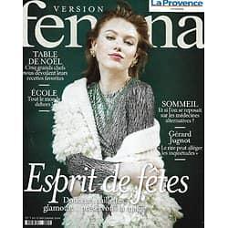 VERSION FEMINA n°975 07/12/2020  Esprit de fêtes/ Gérard Jugnot/ Table de chefs à Noël/ Bien dormir