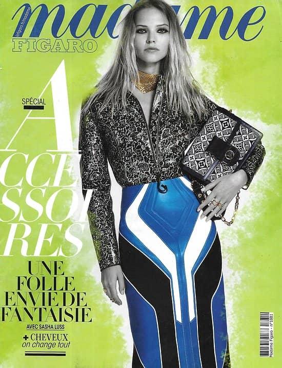 MADAME FIGARO n°23660 (n°1881) 11/09/2020  Spécial accessoires/ Sasha Luss/ Stars photographes/ Emmanuel Carrère/ Remi Malek