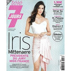 "TELE 7 JOURS n°3158 05/12/2020  Iris Mittenaere/ ""District Z""/ Matt Pokora/ James Bond/ Omar Sy/ Marème N'Diaye"