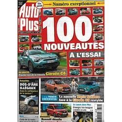 AUTO PLUS n°1682 27/11/2020  100 nouveautés à l'essai/ Citroën ë-C4/ Dacia Sandero vs Citroën C3/ Lewis Hamilton