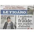 LE FIGARO n°20926 12/11/2011  Fraude aux papiers d'identité/ Anne Sinclair/ Universal/ Giorgio Armani/ 14-18 Poilus
