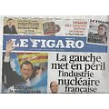 LE FIGARO n°20931 18/11/2011  Les fleurons du Nucléaire fragilisés/ Espagne élections/ Palmarès des Orchestres/ Dumayet