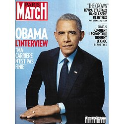 "PARIS MATCH n°3734 26/11/2020  Obama, l'interview/ ""The Crown""/ Les hôpitaux en pleine épidémie/ Léna Situations/ Melody Gardot"