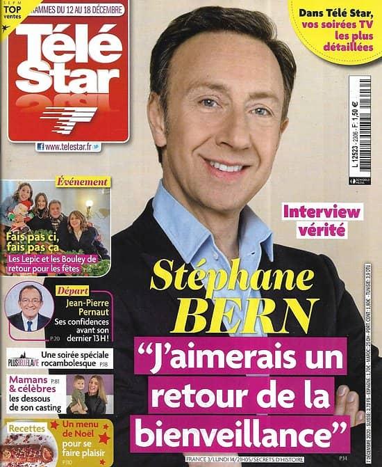 TELE STAR n°2306 12/12/2020  Stéphane Bern/ Guillaume de Tonquédec/ Yul Brynner/ Jean-Pierre Pernaut/ Meghan Markle
