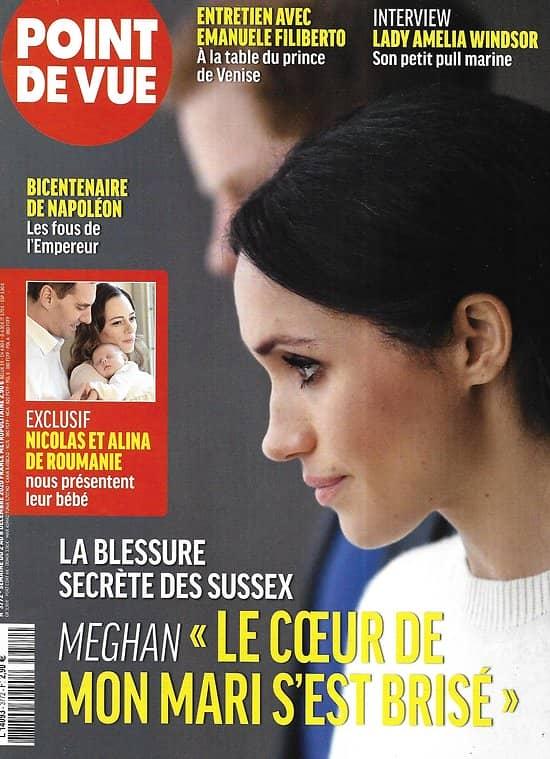"""POINT DE VUE n°3772 02/12/2020  La blessure secrète des Sussex/ Bicentenaire de Napoléon/ """"The Crown""""/ Emanuele Filiberto"""