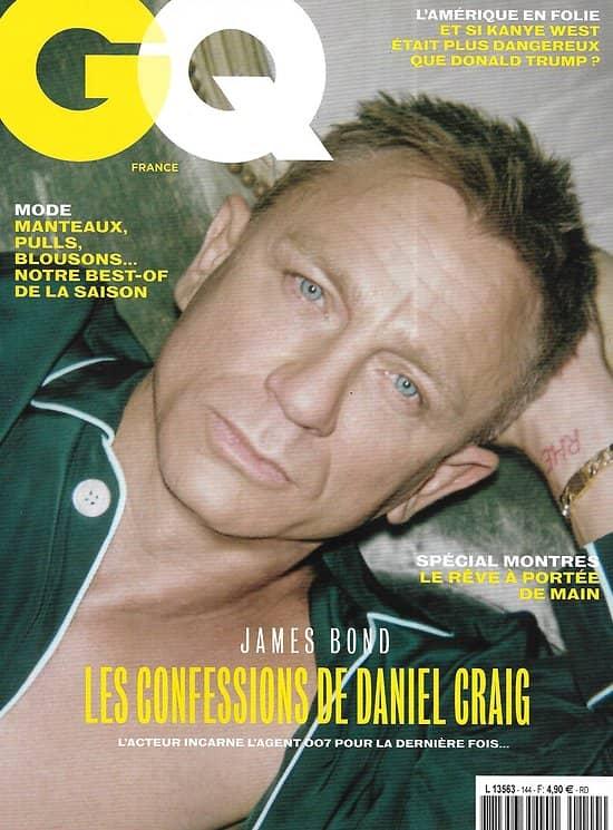 GQ n°144 novembre 2020  James Bond: les confessions de Daniel Craig/ Kanye West/ Parker Van Noord/ Nick Cave/ Transhumanisme