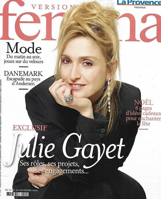 VERSION FEMINA n°976 14/12/2020  Exclusif:  Julie Gayet/ Escapade au Danemark/ Spécial Noël/ Pharmacie de la mer/ Mode: velours