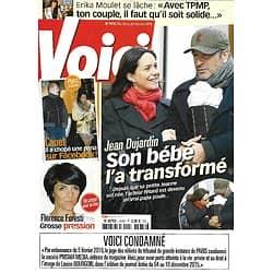 VOICI n°1476 19/02/2016  Jean Dujardin & Nathalie Péchalat/ Florence Foresti/ Sébastien Cauet/ Bono/ Erika Moulet/ Tom Cruise