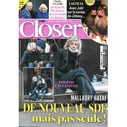 CLOSER n°809 11/12/2020  Mallaury Nataf/ Laeticia Hallyday/ Charles & Camilla/ Gwyneth Paltrow/ Valéry Giscard d'Estaing/ Elliot Page/ Tom Cruise