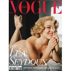 VOGUE n°1013 déc.2020-janv.2021  Cov1  Spécial Léa Seydoux, invitée d'honneur/ Spécial bijoux