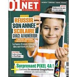 01 NET MAGAZINE n°937 24/09/2020  Réussir son année scolaire grâce au numérique/ GooglePhone Pixel A4/ Tout sur Youtube