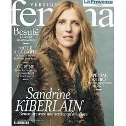 VERSION FEMINA n°978 28/12/2020  Sandrine Kiberlain/ Spécial astro/ Mode à la carte/ Best of beauté/ Le menu festif d'Eric Guérin