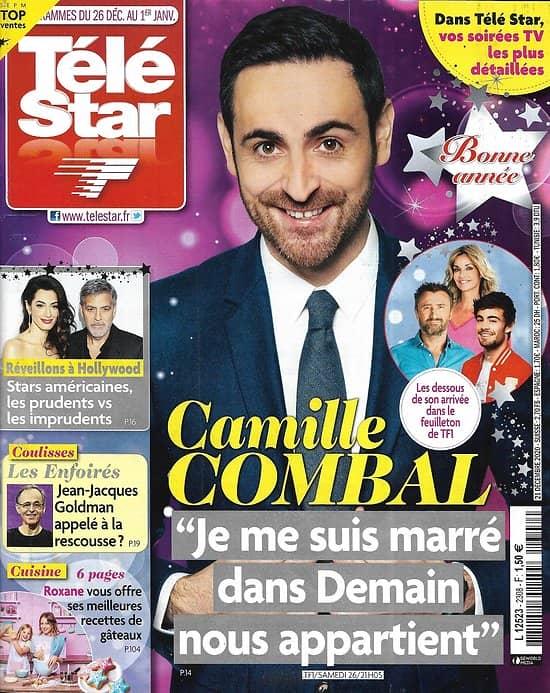 TELE STAR n°2308 26/12/2020  Camille Combal/ Le Noël des stars d'Hollywood/ Les Enfoirés/ Clovis Cornillac/ Delphine Wespiser
