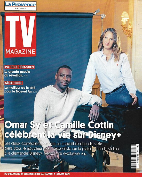 "TV MAGAZINE 27/12/2020 n°1769  Omar Sy & Camille Cottin ""Soul""/ Patrick Sébastien/ Paris médiéval/ Boxing Day"