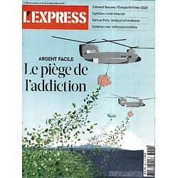 L'EXPRESS n°3624 17/12/2020  Argent facile, dette: le piège de l'addiction/ Samuel Paty: les leçons d'un drame/ Eolien en mer/ Cyril Dion, l'anti-Macron