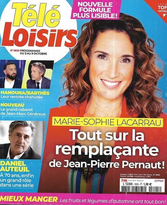 TELE LOISIRS n°1817 26/12/2020  Marie-Sophie Lacarrau/ Patrick Sébastien/ Corinne Touzet/ George Clooney/ Spécial fêtes