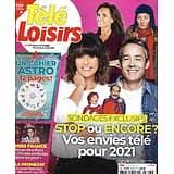 "TELE LOISIRS n°1818 02/01/2021  Vos envies tv pour 2021/ Miss France/ Alain Delon/ Aliénor d'Aquitaine/ ""Ninja warrior""/Cahier astro"