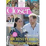 CLOSER n°812 02/01/2021  Meghan & Harry/ Jade Hallyday/ Camille Lacourt/ Rétro good news 2020/ George Clooney/ Claude Brasseur