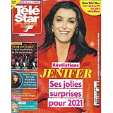 TELE STAR n°2310 09/01/2021  Jenifer, ses jolies surprises pour 2021/ Melania Trump, mystérieuse ex-First Lady/ Natacha Lindinger, alias Sam/ Destin: Pierre Arditi