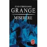 """""""Miserere"""" Jean-Christophe Grangé/ Très bon état/ Livre poche"""