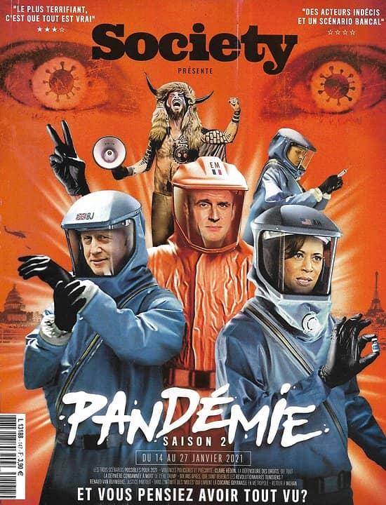 SOCIETY n°147 14/01/2021  Pandémie saison 2/ Spécial BD/ La Pologne dans la rue/ Révolution arabe, 10 ans après/ Le juge Van Ruymbeke/ profession: mule