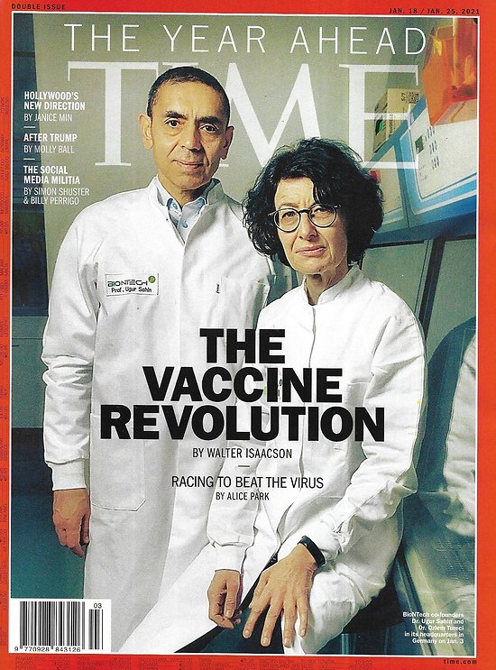 TIME VOL.197 1 & 2 january 18th 2021  The Vaccine Revolution/ 2021 the year ahead/ Tokyo Olympian risk/ The antisocial network