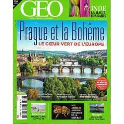 GEO n°502 décembre 2020  Prague et la Bohême, le coeur vert de l'Europe/ Groenland, nouvelle vie/ Nos abeilles/ Road-trip au Mexique/ La magie des saris