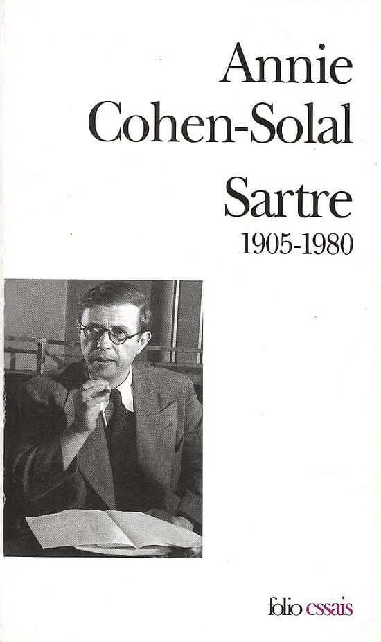 """""""Sartre, 1905-1980"""" Annie Cohen-Solal/ Bon état/ Livre poche"""