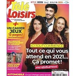 "TELE LOISIRS n°1820 16/01/2021  ""Ici tout commence""/ ""Impitoyable"" Eastwood/ ""Capitaine Marleau""/ Sofia Essaïdi/ Stéphane Plaza"