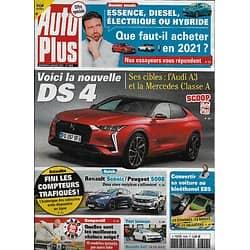 AUTO PLUS n°1688 08/01/2021  Voici la nouvelle DS4/ Renault Scénic vs Peugeot 5008/ Que faut-il acheter en 2021?