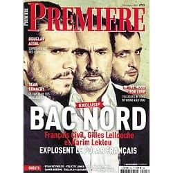 "PREMIERE n°513 décembre 2020  ""Bac Nord"" F.Civil, G.Lellouche & Leklou/ Sean Connery/ ""In the mood for love""/ Douglas Attal/ Ryan Reynolds"