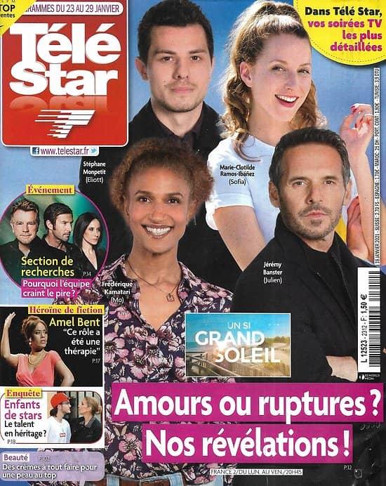 """TELE STAR n°2312 23/01/2021  """"Un si grand soleil""""/ """"Section de recherches""""/ Enfants de stars/ Amel Bent/ Arielle Dombasle"""