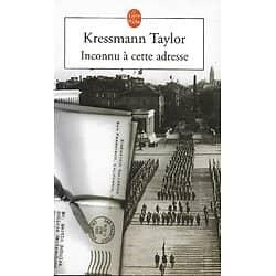 """""""Inconnu à cette adresse"""" Kressman Taylor/ Livre poche"""