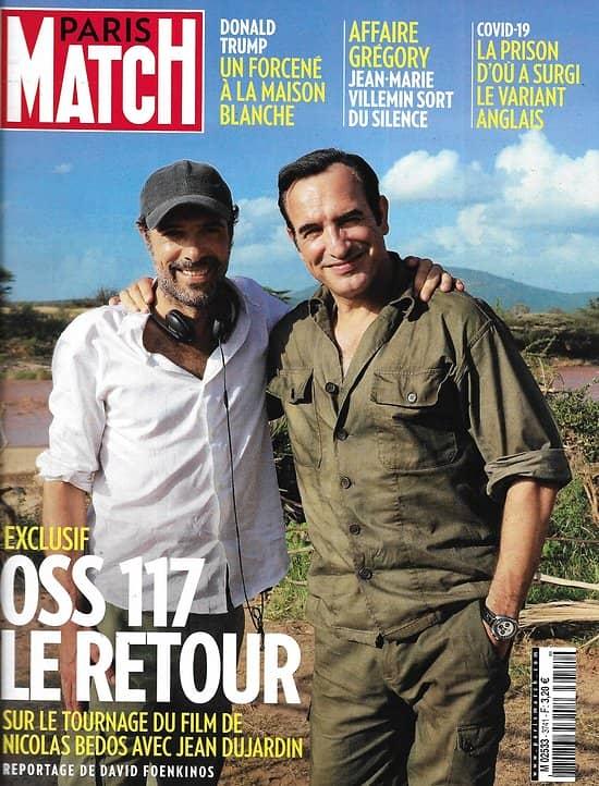 PARIS MATCH n°3741 14/01/2021  OSS 117 le retour, jean Dujardin/ Affaire Grégory/ Variant anglais/ L'assaut du Capitole/Riss/ Stella Tennant