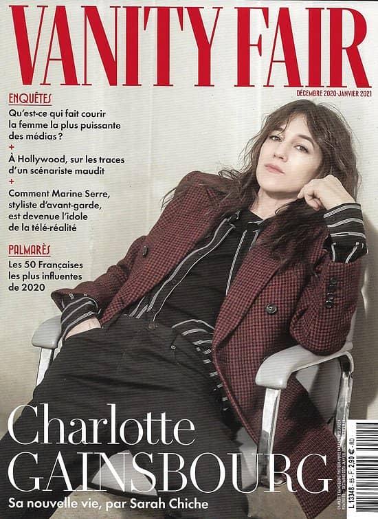 """VANITY FAIR n°85 déc.2020-janv.2021  Charlotte Gainsbourg/ Jane Birkin/ 50 Françaises influentes/ Marine Serre/ Laure Adler/ """"Mank"""" de Fincher"""