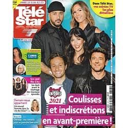 """TELE STAR n°2313 30/01/2021  Les Enfoirés/ Anthony Hopkins/ """"Sex and the City""""/ Lucie Lucas/ Camille Lacourt"""
