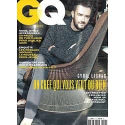 GQ n°145 déc.2020-janv.2021  Cyril Lignac, un chef qui vous veut du bien/ Gérald Darmanin/ Réseaux sociaux: le péril jeune/ Spécial mode
