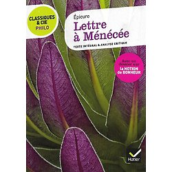 """""""Lettre à Ménécée"""" Epicure/ Classiques & Cie Philo/ Très bon état/ Livre poche"""