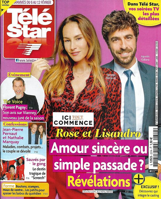 "TELE STAR n°2314 06/02/2021 ""Ici tout commence"" Agustin Galiana & Vanessa Demouy/ Florent Pagny/ Jean-Pierre Bacri/ Jean-Pierre Pernaut"