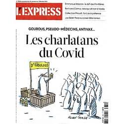 L'EXPRESS n°3630 28/01/2021  Les charlatans du Covid/ Macron & le défi des frontières/ Biden face au casse-tête iranien/ ADN fossile/ Collection Pinault