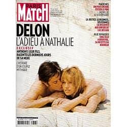 PARIS MATCH n°3743 28/01/2021  Alain Delon: l'adieu à Nathalie; Anthony raconte sa mère/ Origine de la pandémie, l'alerte/ Joe Biden en guerre contre le virus