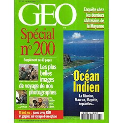 GEO n°200 octobre 1995  Océan Indien, archipel heureux: Ile Maurice, Seychelles, La Réunion, Comores/ Les plus images de nos photographes
