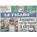 LE FIGARO n°20933 21/11/2011  Espagne: raz-de-marée à droite/ Assassinat d'Agnés/ Angela Gheorghiu/ Polnareff/ Dossier: mycoses/ Joël Pommerat
