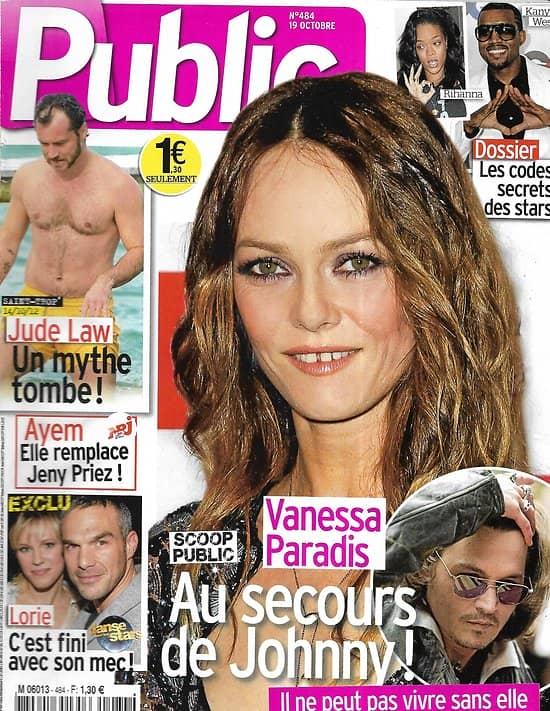 PUBLIC n°484 19/10/2012  Vanessa Paradis/ Jude Law/ Scarlett Johansson/ Lorie/ Pokora & Jenifer