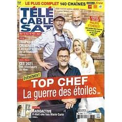 "Télé Cable Sat n°1606 13/02/2021  ""Top Chef"" la guerre des étoiles/ ""Radioactive"" Marie Curie/ Le style Pochettino/ Mark Zuckerberg"
