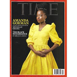 TIME VOL.197 5 & 6 15/02/2021  Amanda Gorman with Michelle Obama/ The Black renaissance/ Live with the virus/ NIH head Francis Collins