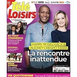 "TELE LOISIRS n°1825 20/02/2021  Harry Roselmack & Audrey Crespo-Mara/ ""Ici tout commence""/ ""Pékin Express""/ Gainsbourg/ Napoléon"